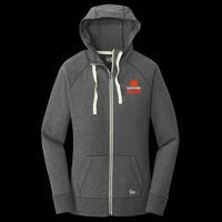 SR Bears Embroidered - ® Ladies Sueded Cotton Full Zip Hoodie Thumbnail