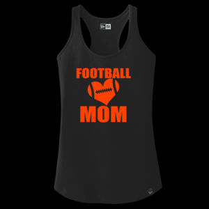 SR Bears Glitter Football Mom - Women's Ideal V - ® Ladies Heritage Blend Racerback Tank Thumbnail